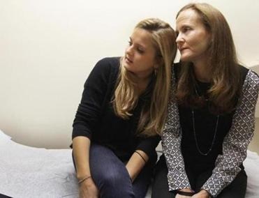 Marathon bombing victim Gillian Reny and her mother, Audrey Epstein Reny, were back at Brigham and Women's Hospital for another appointment on Tuesday.